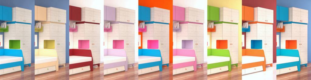 цветовая гамма детской мебели Диско